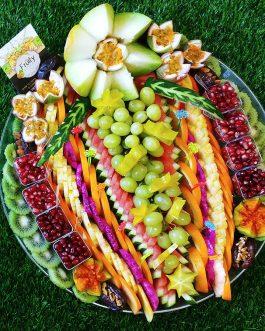 מגש פירות פרח קוטר 45