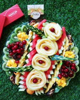 מגש פירות  שושנים קוטר 40