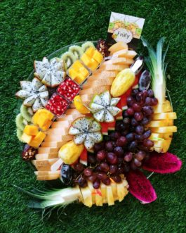 מגש פירות  שורות  קוטר 40