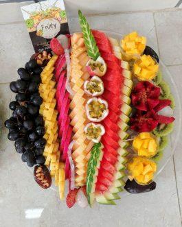 """מגש פירות """"שורות קיץ"""" קוטר 35"""