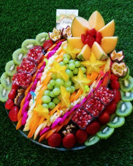 מגש פירות  פרח חורפי קוטר 40