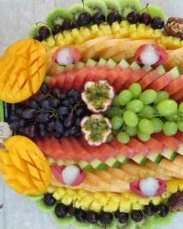 מגש פירות  שורות קיץ קוטר 40