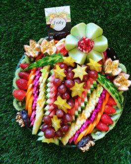 מגש פירות פרח קוטר 35