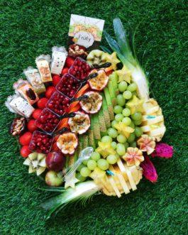 מגש פירות משולב 5 יחידות סושי פירות
