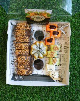דואט סושי פירות & סושי שוקולד 16 יחידות